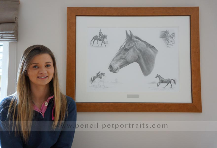 horse pet portraits montage