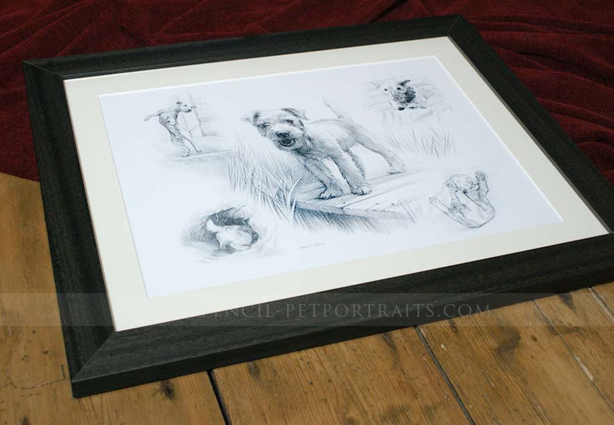 Jack Russell Pet Portraits Framed